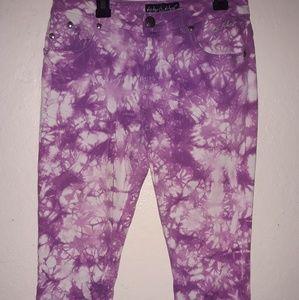 Baby Phat Size 16 juniors capris purple jeans